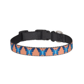 Blue Faery dog collar (many colors & three sizes)