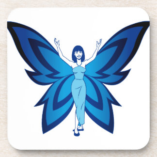 Blue Faery drink coasters
