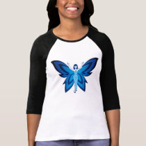 Blue Faery long-sleeved ragan tee