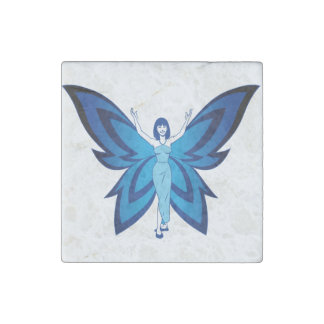 Blue Faery marble stone magnets, individual or set Stone Magnet