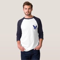 Blue Faery men's basic 3/4 -sleeve raglan t-shirt