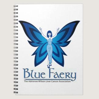 Blue Faery spiral notebook