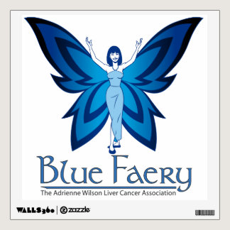 Blue Faery square wall decal (many colors)