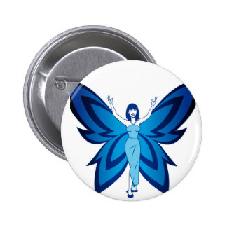 Blue Faery two-inch round button