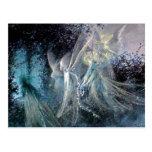 Blue Fairies Postcard