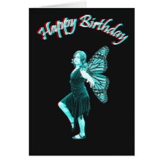 Blue fairy 3D Card