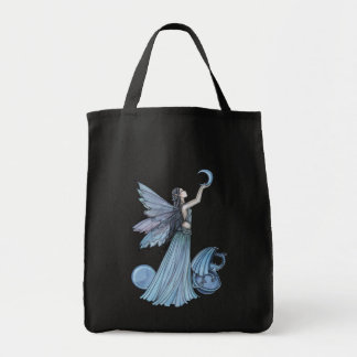 Blue Fairy and Dragon Tote Bag