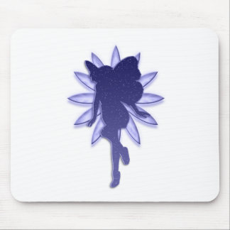 Blue Fairy and Flower Mouse Pad