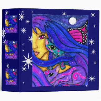 Blue Fairy And Her Magical Cats 3 Ring Binder
