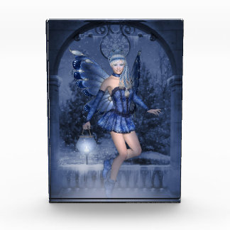 Blue fairy and lamplighter acrylic award