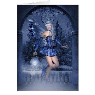 Blue fairy and lamplighter card