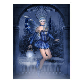 Blue fairy and lamplighter postcard