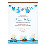 Blue Fairy Baby Shower 5x7 Paper Invitation Card