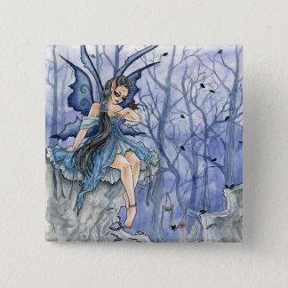 Blue Fairy Button Pin