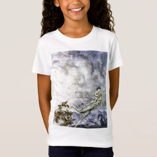 Blue Fairy Carries Baby TShirt by Rackham