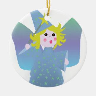 Blue Fairy Ceramic Ornament