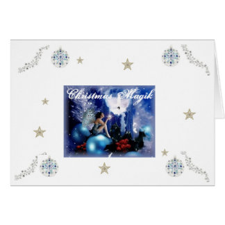 Blue Fairy Christmas Card