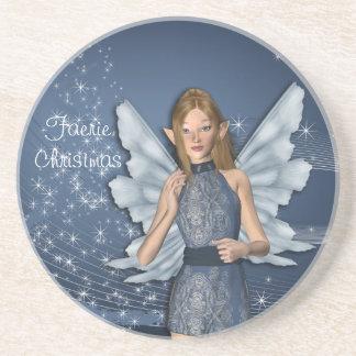 Blue Fairy for Christmas Coaster