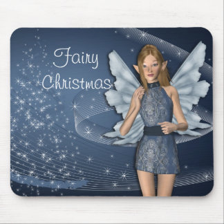 Blue Fairy for Christmas Mouse Pad
