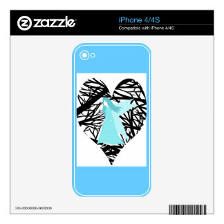 Blue fairy forest fantasy iPhone 4 skin