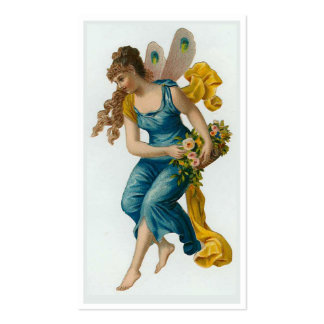 """Blue Fairy"" Gift Tag Double-Sided Standard Business Cards (Pack Of 100)"