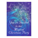 BLUE FAIRY LIGHTS 5X7 PAPER INVITATION CARD
