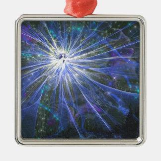 Blue fairy metal ornament
