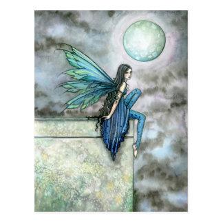 Blue Fairy Postcard by Molly Harrison