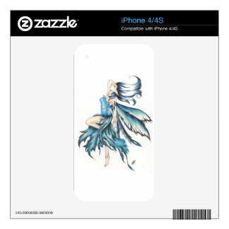blue fairy skins for the iPhone 4