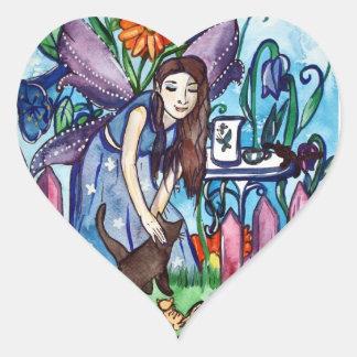 Blue fairy's garden stickers