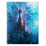 Blue Fairytale Fantasy Castle Grunge Notebook