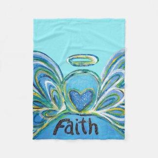 Blue Faith Guardian Angel Chemo Blanket