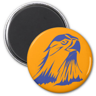 Blue Falcon Button 2 Inch Round Magnet