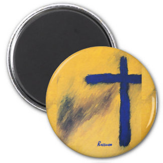 Blue Falcon by Rossouw 2 Inch Round Magnet