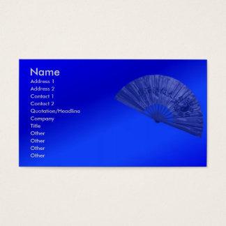 Blue Fan Business Card