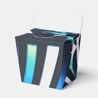 blue fan favor box