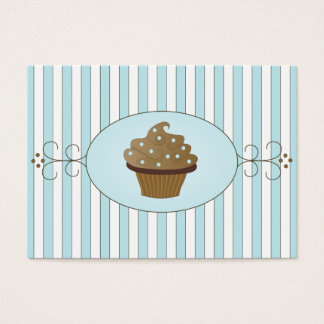 Blue Fancy Cake Business Card
