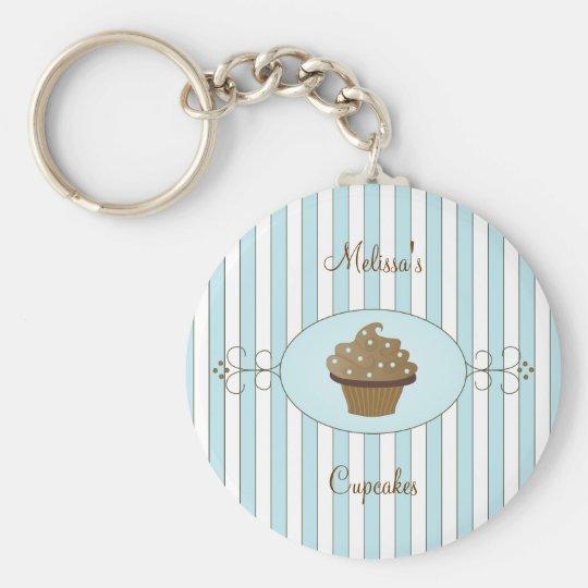 Blue Fancy Cake Keychain