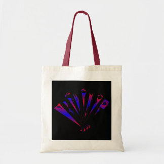 Blue Fantasia In Natural And Red Tote Bag