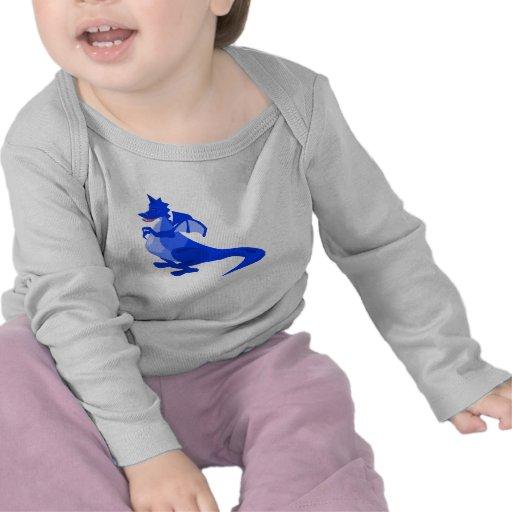 Blue Fantasy Cute Dragon Tee Shirt