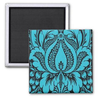 Blue Fantasy Floral Magnet