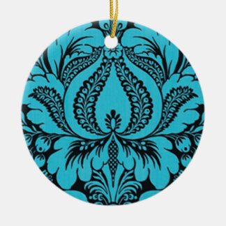 Blue  Fantasy Floral Ornament