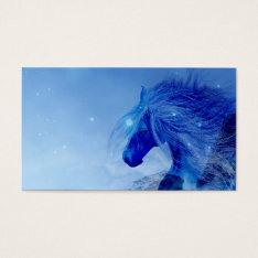 Blue Fantasy Horse Business Card at Zazzle