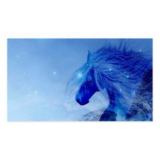 Blue fantasy horse business card templates