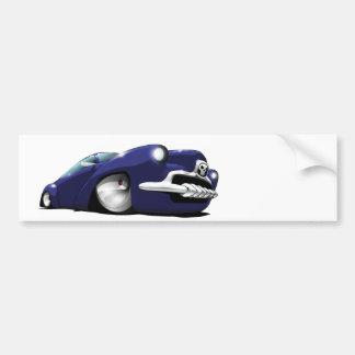 Blue fantasy hot rod sticker car bumper sticker
