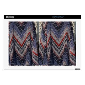"Blue Fashion Fabric Dress pattern template diy fun 17"" Laptop Skins"