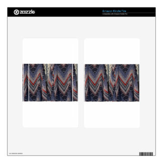 Blue Fashion Fabric Dress pattern template diy fun Skin For Kindle Fire
