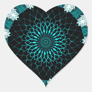 Blue Fashion Heart Sticker