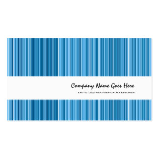 Blue fashion vertical pin striped business card template