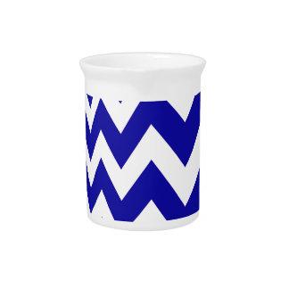 Blue Fast Lane Chevrons Beverage Pitcher